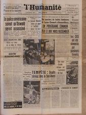 L'Humanité (4 déc 1963) Oswald - Montpellier procès 6 otages - Grève mine Trieux
