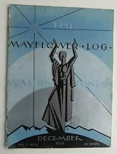 "Rare The Mayflower Log and Washingtonian Magazine Art Deco Cover by ""R""  Dec '28"