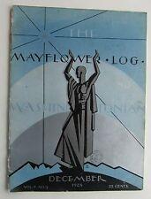 "Rare The Mayflower Log and Washingtonian Magazine Art Deco Cover by ""R""  Dec '28"