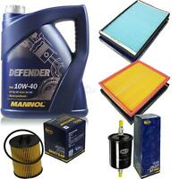 Inspektionspaket Filter Set MANNOL 10W40 Motoröl+ Opel Zafira A 10135897