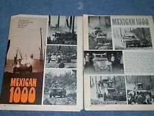 1970 Mexican 1000 Race Highlights Vintage Article
