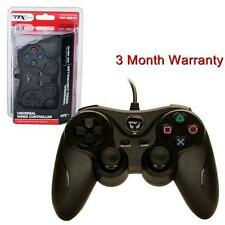 TTX Tech PC and PlayStation 3 PS3 USB Wired Controller BLACK Brand New
