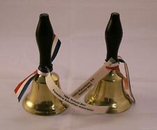New listing Pair of Wooden Handle Brass School Bells 83 & 84 Pasadena Education Association
