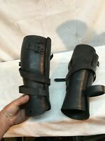 Vintage Pair Leather knee Brace Support Polio Civil War Early Medical Arts