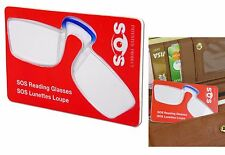 CLIP ON READING GLASSES LENS CREDIT CARD WALLET MAGNIFIER EMERGENCY STRENGTH