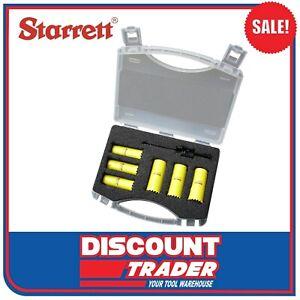 Starrett Bi-Metal Fast Cut 6 Piece Electrician's Set 20mm & 25mm Holesaw Kit