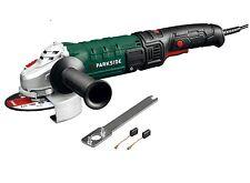 Parkside Winkelschleifer PWS 125 D3 + Zubehör 1200 W Aluminium Spindle Lock NEU