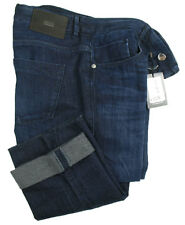 BOSS TAILORED JEANS Lincoln in W33/L34 (slim fit) Blu Marino morbido cotone