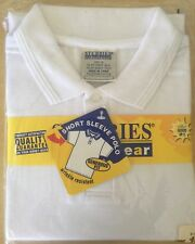 Stubbles School Wear Boys Girls Short Sleeve Polo White Size 16 - New