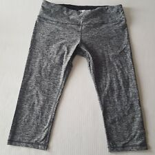 Ododos Capri Length Yoga Legging Pants Black Gray Large