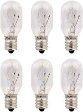 15 Watt Himalayan Salt Lamp Bulbs 6 Pack E12 Socket 15 Watt-6