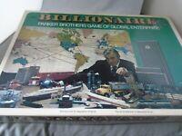 Billionaire Parker Brothers Vintage 1973 Board Game Complete