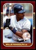 1987 Donruss Opening Day Willie Randolph New York Yankees #246