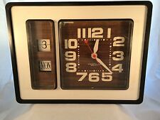 Mid Century Retro Westclock Electric Wall Clock Flip Weekday and Day Numbers