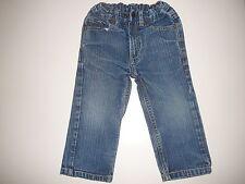 Tolle Jeans Hose Gr. 86 / 92 mit hübscher Blumenstickerei hinten !!