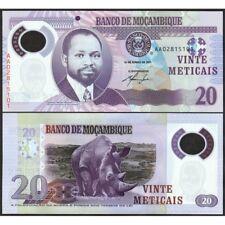 MOZAMBIQUE  20 Meticais 2011 Polymer UNC P 149 a