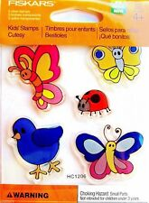 Ladybug Bird and Butterflies Clear Acrylic Stamp Set by Fiskars 103230-1002 NEW!
