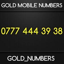 GOLD 0777 GOLDEN EASY VIP DIAMOND PLATINUM 0777 MOBILE NUMBER 07774443938