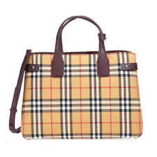 Burberry Medium Banner Vintage Check Canvas & Leather Tote