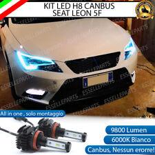 KIT FULL LED LAMPADE H8 6000K BIANCO 9800 LUMEN FENDINEBBIA PER SEAT LEON 3 5F