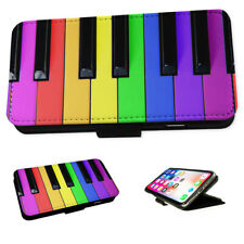 Rainbow Piano Keys Musical - Flip Phone Case Wallet Cover Fits Iphone & Samsung