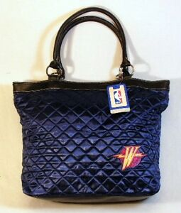 Golden State Warriors NBA Licensed Navy Quilted Tote