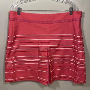 Puma 14 Pink Stripes Sport New Golf Skirt Shorts Combo Skort Womens Ladies NWT