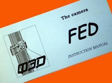 ENGLISH MANUAL for FED-1 camera USSR Leica & Tessar copy INSTRUCTION BOOKLET