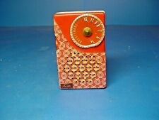 Vintage 1950's Toshiba Four Transistor Radio TR 193 / Lace Red and White