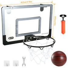 Mini Basketball Hoop System Indoor Outdoor Home Office Wall Basketball w/Pump