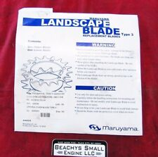 New OEM Maruyama Upper & Lower Blade, Part # is 405038