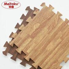 EVA Foam Puzzle Crawling Mat Wood Interlock Floor Tiles Waterproof Rug 30X30cm