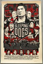 Tyler Stout SLEEPING DOGS Mondo Video Game Prima Games Variant Poster Print