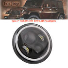 7 Inch LED Headlight Lamp Projector DRL Motorcycle For Harley Jeep Wranger JK CJ