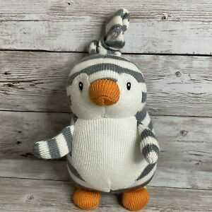 Jellycat Shiver Penguin Jitter Vibrating Baby Toy Knitted Plush 5in