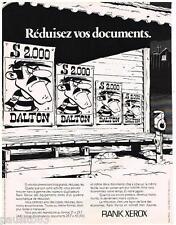 PUBLICITE ADVERTISING 095  1977  RANK XEROX    copieur-duplcateur  LES DALTON