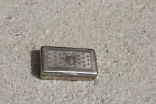Anciene tabatière gravée et guillochée métal argenté