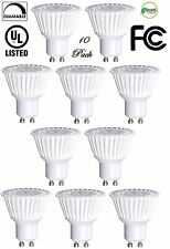 10 Pack Bioluz LED GU10 LED Bulbs 50W Halogen Equivalent Dimmable 6.5w 3000K UL