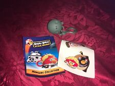 ANGRY BIRDS STAR WARS DEATH STAR PIG HANGER KEY CLASP WITH STICKERS & LEAFLET