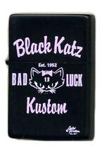 Lucky 13 Black Cat Lighter Tattoo Rockabilly Katz Kustom Kulture NOS VTG