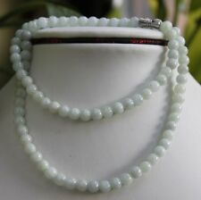 """100% Natural (Grade A) Untreated Jadeite JADE Beads Necklace * 5.7mm * 19.5"""""""
