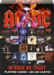 NEW! AC/DC In Rock We Trust set 52 playing cards + jokers (nm)