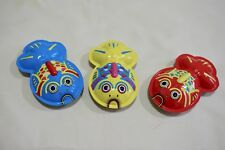 "3 Pieces New 4"" Tinplate Goldfish Decoration with Sound when Shake Made in Japan"