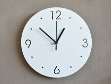 Simply White Circle - Modern Wall Clock