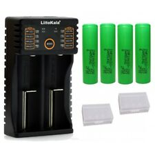 4 x Samsung 25R + LiitoKala Lii-202 Intelligent 18650 USB Vape Battery Charger