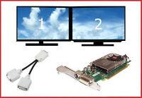Dell Dual DVI Monitors Video Card PCI-e x16 PC Tower Optiplex 780 790 960 980