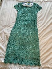Rubber Ducky Teal Lace Dress