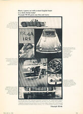 1966 Triumph TR4A TR4-A - Vintage Advertisement Car Print Ad J499