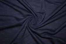 Denim Blue Jersey Knit Slub 97% Rayon 3% Spandex Lycra Stretch Fabric BTY