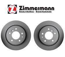 BMW E34 540i M5 Pair Set of 2 Rear Vented Brake Discs Rotors 320x20mm Zimmermann